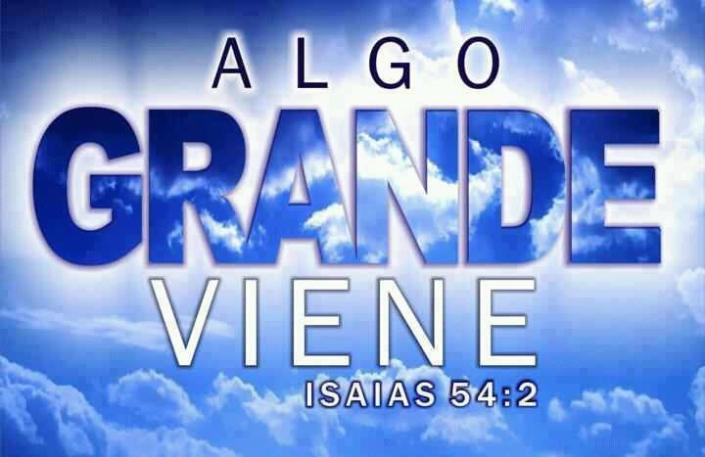 ALGO GRANDE VIENE MUY PRONTO EN TIEMPO DE AVIVAMIENTO. PREPARATE !!!!!!